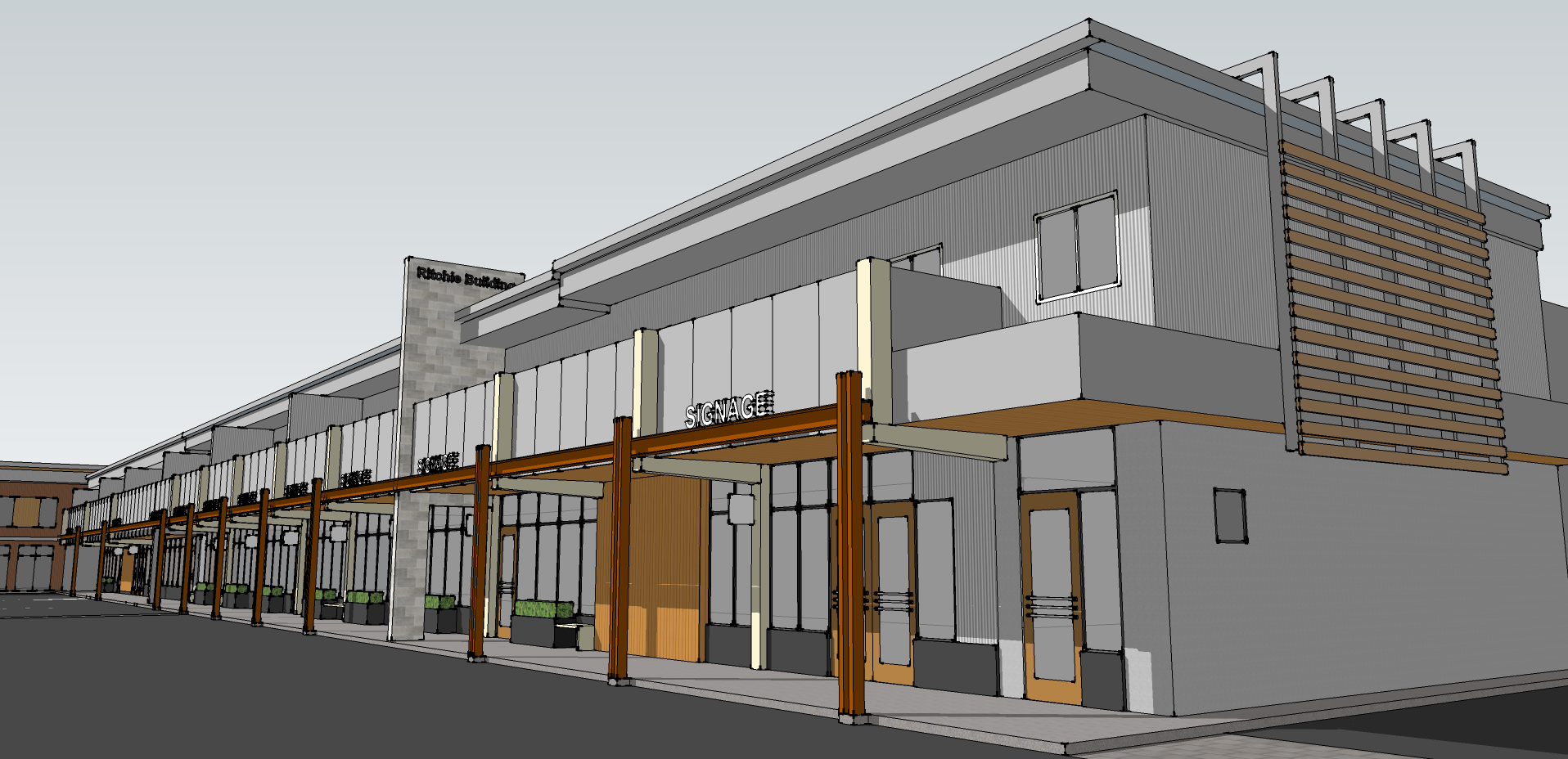Ritchie Building Facade Improvement – Concept 01