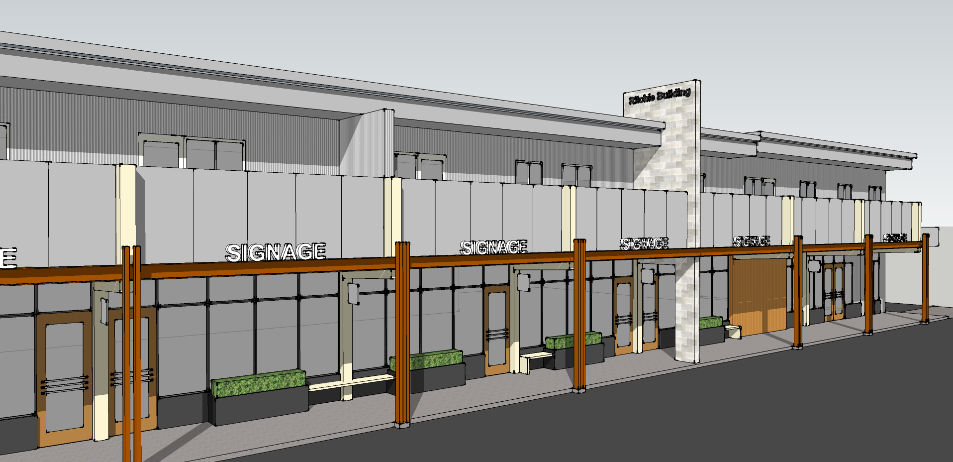 Ritchie Building Facade Improvement – Concept Image 03